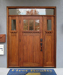 Craftsman Entry Door on Business
