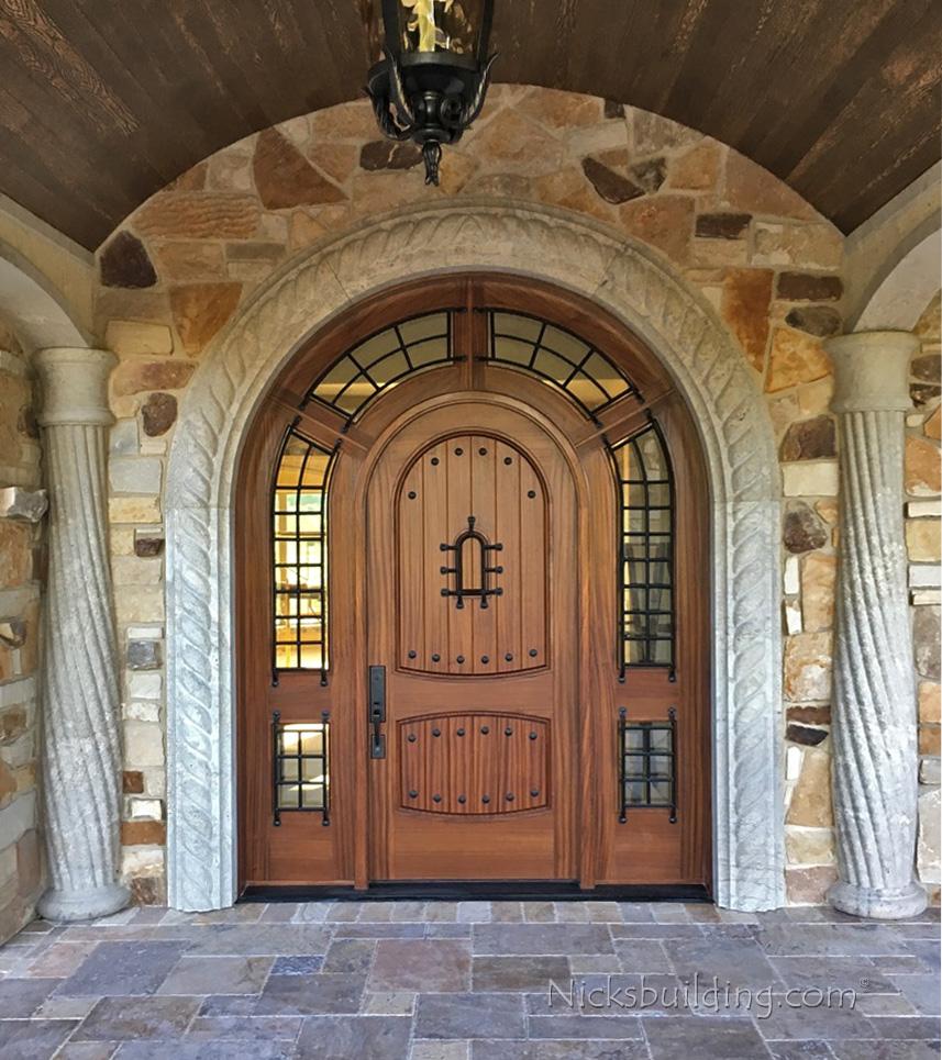 Alder doors rustic exterior arch top doors - Doors for arched doorways ...