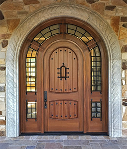 Custom Pompano Door in Mahogany