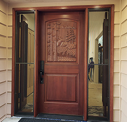 Elk Door with Venting Sidelights Open