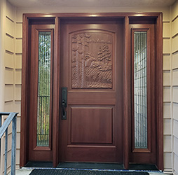 Elk door with sidelights