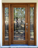 full-lite mahogany door with glass
