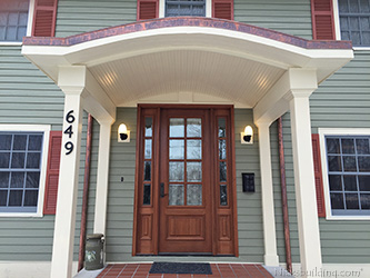 exterior wood door divided lites and sidelights