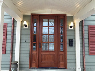 exterior mahogany door true divided lites