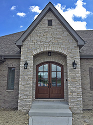 exterior mahogany arched top double doors