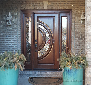Tiffany Single Door with Sidelights