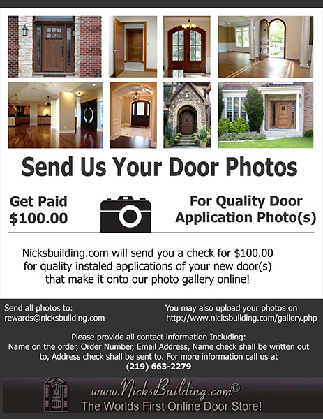 We will pay $100 for Quality Door Application Images