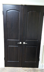 iNTERIOR KNOTTTY ALDER CLOSET DOORS DOUBLE DOOR