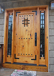 Knotty Alder Door with Natural Finish