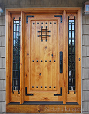 Knotty Alder Exterior Door in Natural Finish