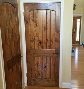 knotty lader interior closet doors