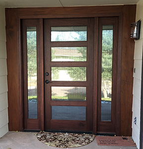 Modern Door with Reeded glass