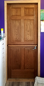 Oak 6 Panel Interior Dutch Door