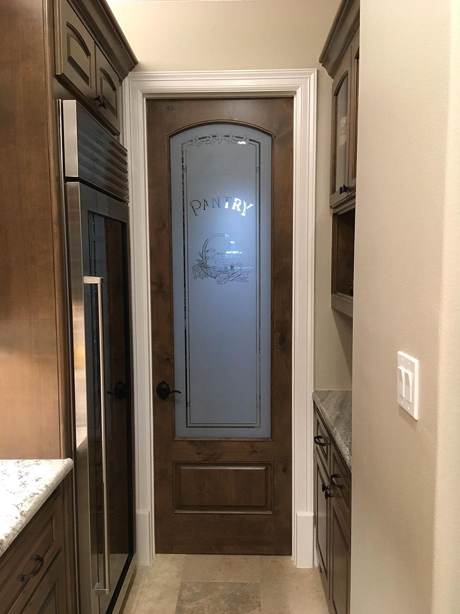 Interior etched glass doors full lite interior doors - Interior door with window on top ...