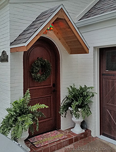 Round Top Mahogany Single Entry Door Model RT2 with Speakeasy