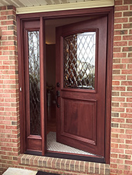 Replacement Mahogany 2 Panel Exterior Door