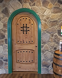 rustic round top doors