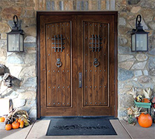 Rustic Double Doors with Arched Panels - The Santa Fe