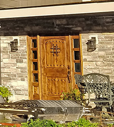 Rustic Entry Door  on new remodel