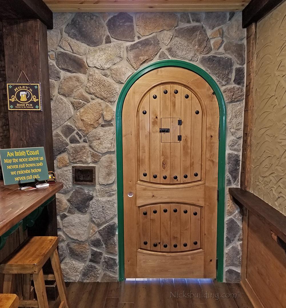 rustic round top doors rustic arch top entry doors