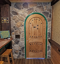 Rustic Round Top Knotty Alder Interior Doors