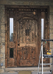 Vienna Door refinishing Before