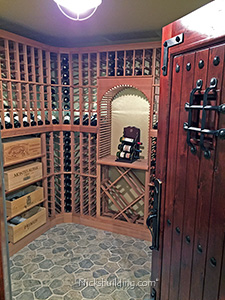 Wine Cellar Rustic Door open for viewing