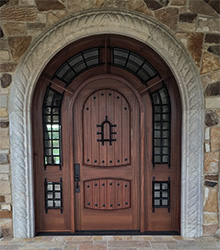 custom pompano door in Sapele