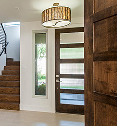modern shaker doors with reeded glass