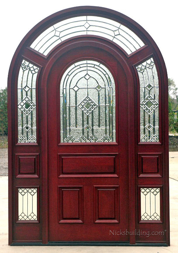 Arched Top Glass Door with Surround & Arched Top Glass Exterior Doors with Surround Model 3003