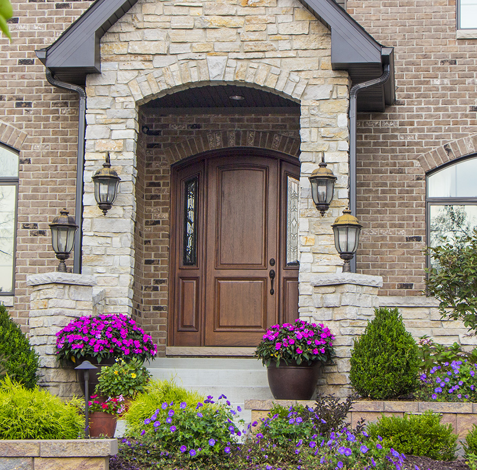 arch top door installed & Arched Doors | Exterior Arched Top Doors | Mahogany Door