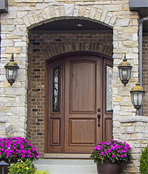 Arched top door with sidelites in Lake in the Hills