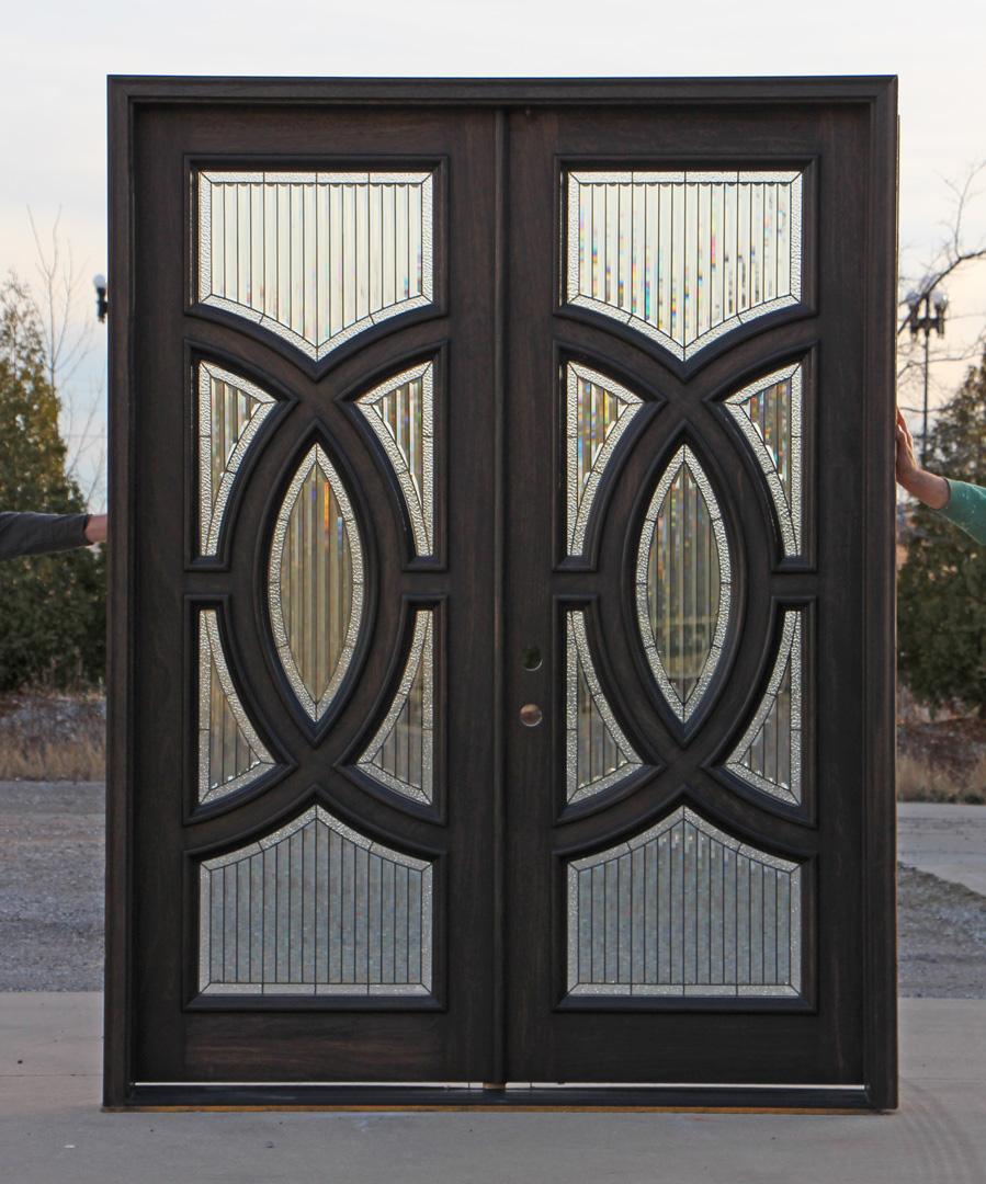 Exterior Mahogany Double Doors In Ebony