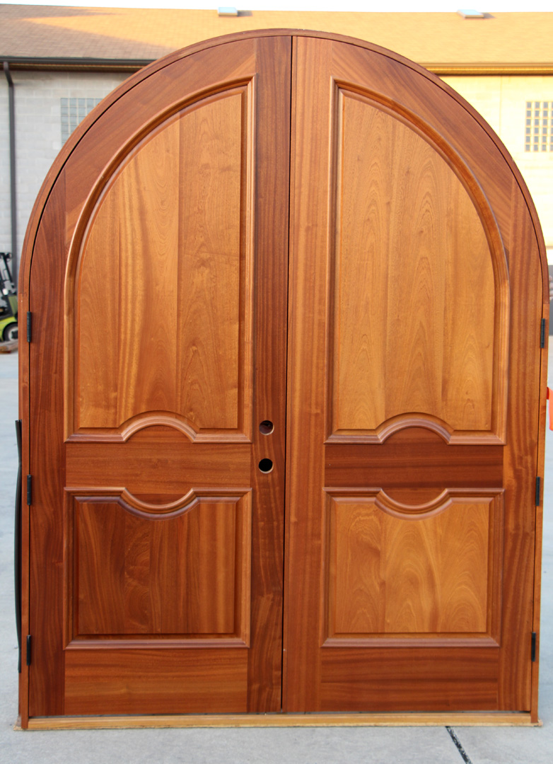 Arched Double Doors Exterior Mahogany