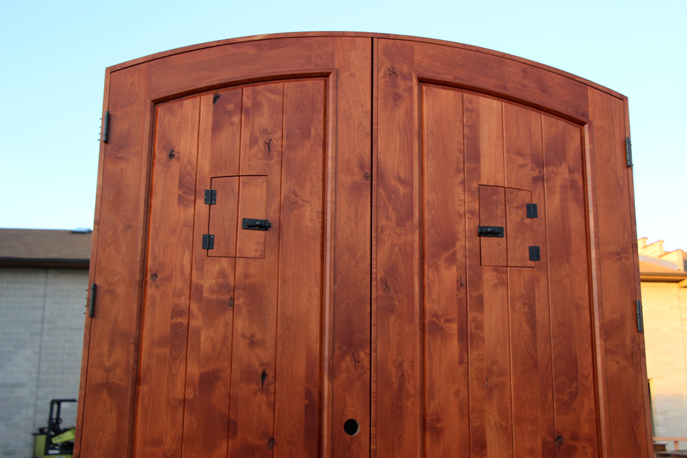 900 #BC860F Arched Rustic Double Door Speakeasy Closed pic Arched Double Front Doors 42711350