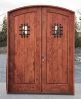 Rustic Arched double Doors