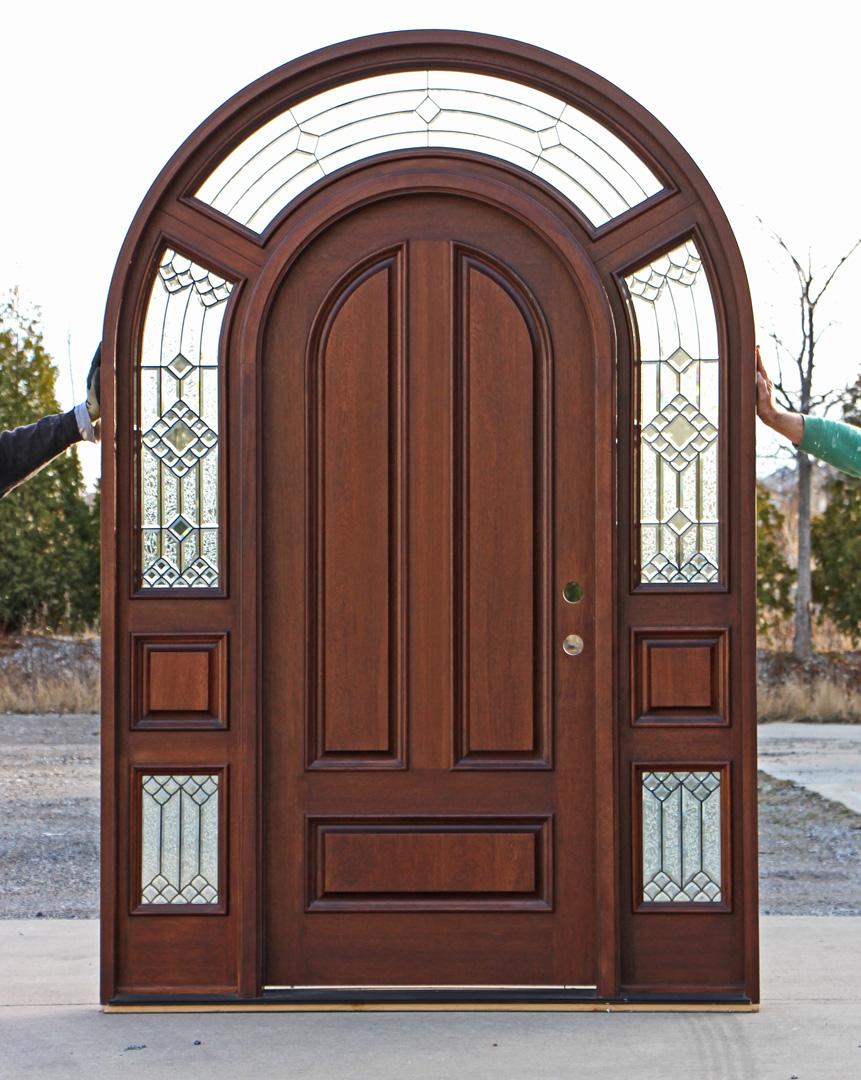 Solid Mahogany Round Top Exterior Doors