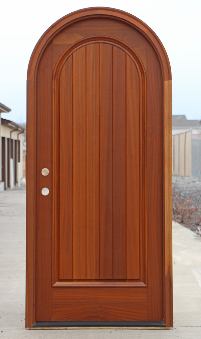 Arched top door african mahogany for Arch door design