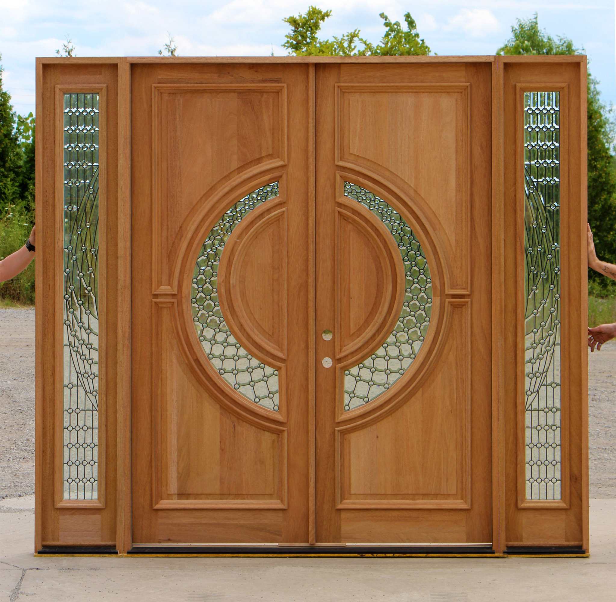 Exterior Double Front Doors with Glass 2047 x 2000