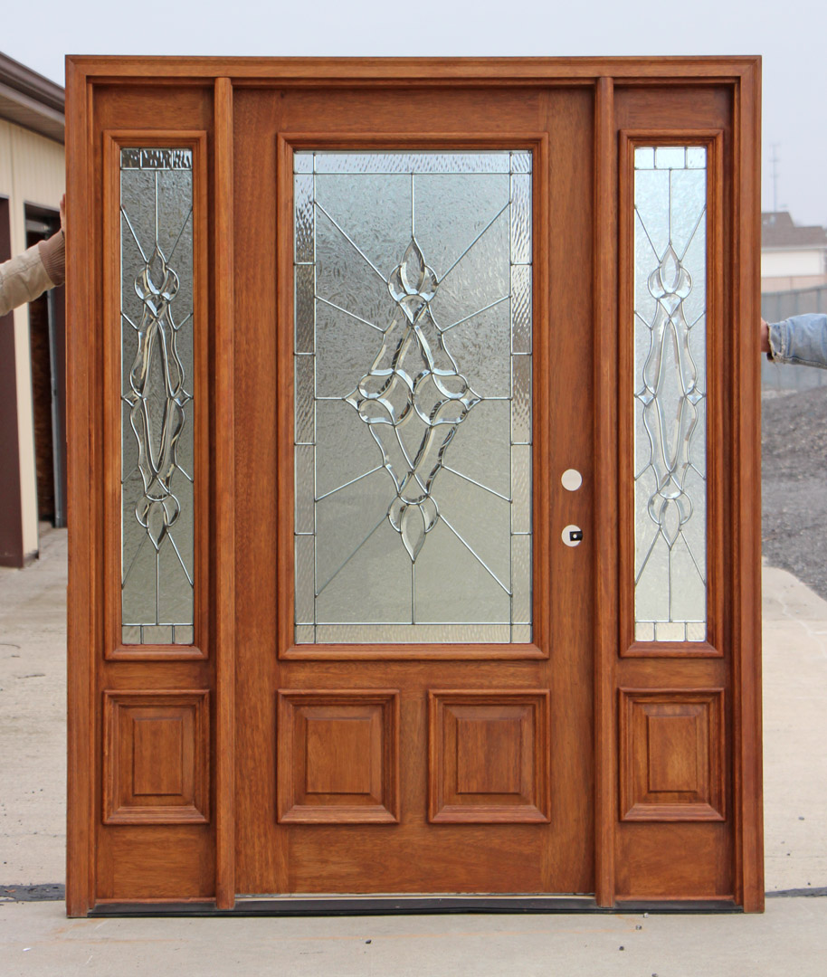 Exterior door and sidelights for Door with light