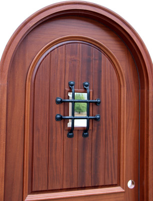 Arched top door closeup picture