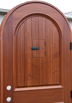 Arched top door inside view