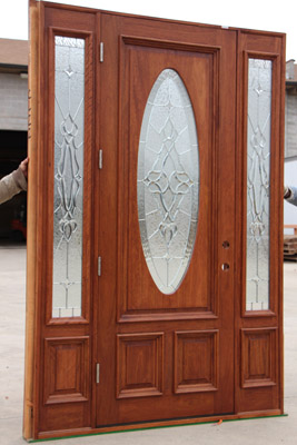 "8' 0"" front doors with sidelights"
