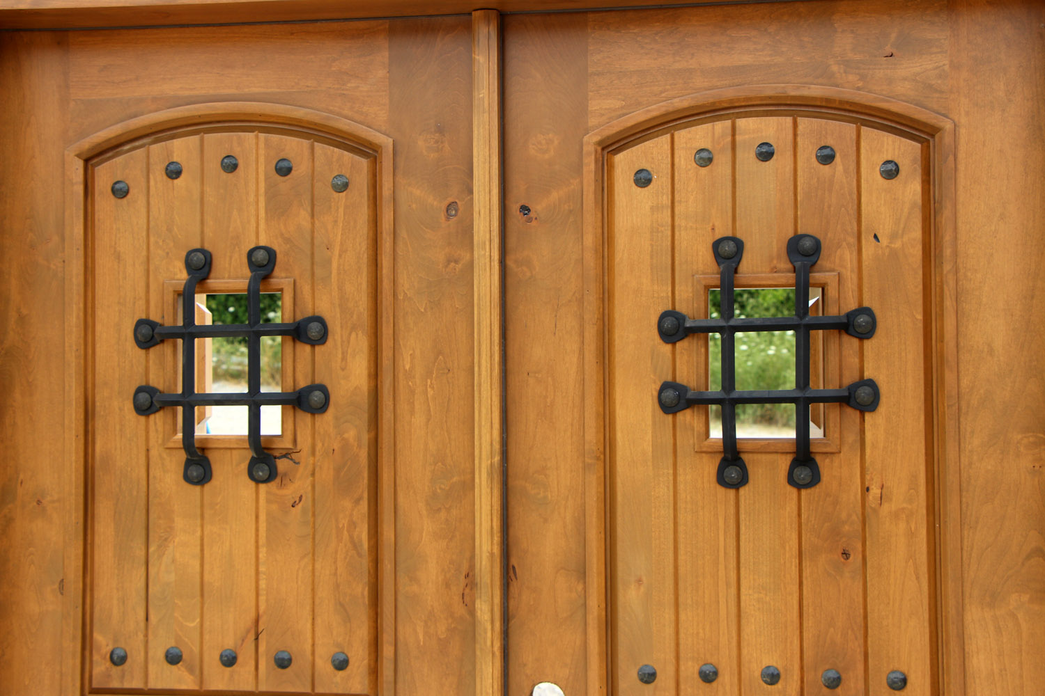 Rustic Exterior Double Doors On Clearance