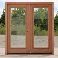 CL-27732-1 Clear Beveled Glass Double Doors