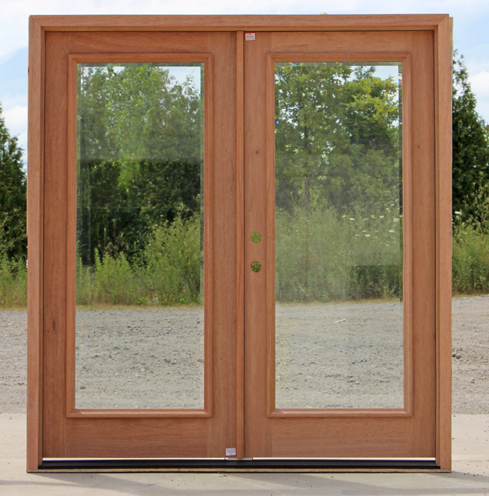 clear beveled glass exterior double doors
