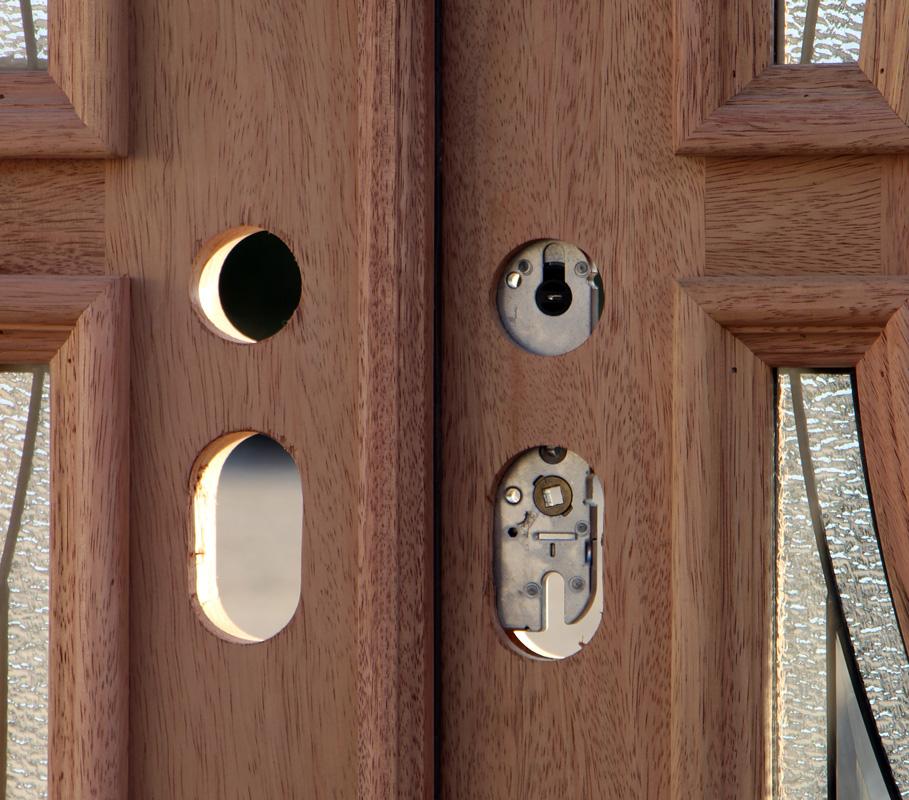 Exterior Double Door In Solid Mahogany