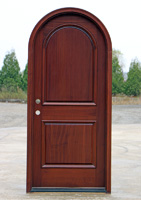 Round top entry door
