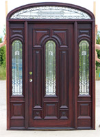 CL-32439 wrought iron door with transom