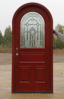 Arched Top door with GLass